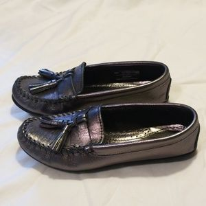 Minnetonka Metallic Grace Moccasin